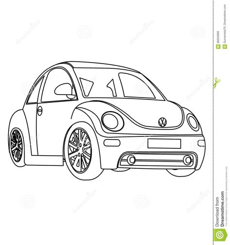 coloring pages of small cars small car coloring page stock illustration image 86204899