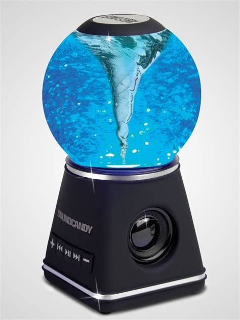 bluetooth electric snow globe speaker