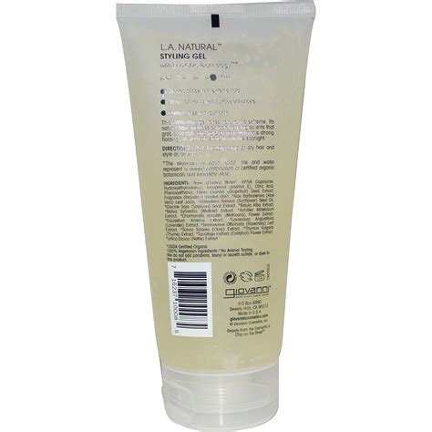 giovanni l a natural styling gel strong hold 6 8 fl giovanni l a natural styling gel strong hold 6 8 fl
