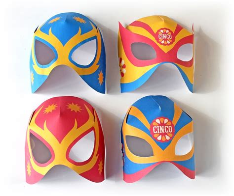 printable luchador masks make a lucha libre mask video using clothes from home