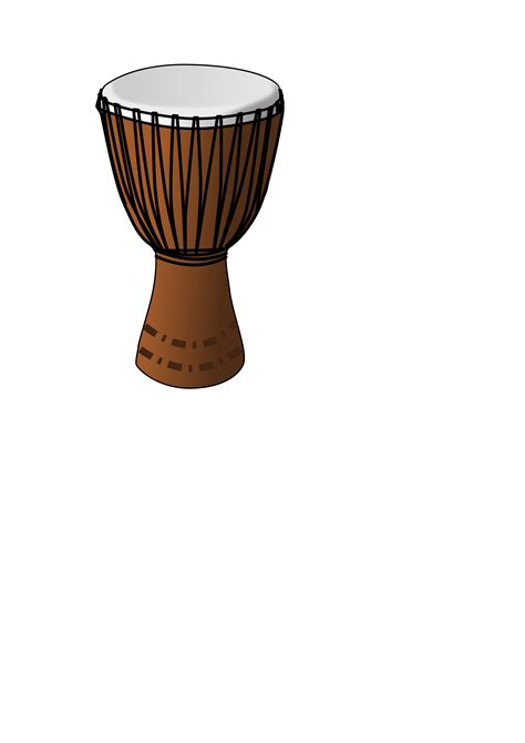 free vector clipart images djembe drum vector clipart image free stock photo