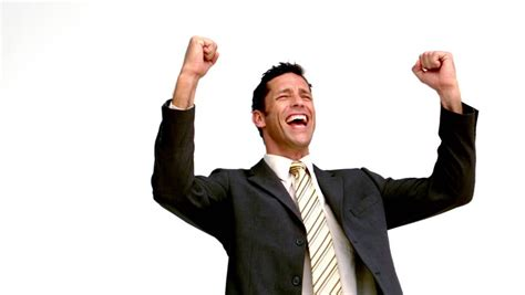 Excited Stock Image stock of excited businessman cheering in motion