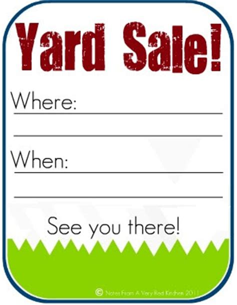 Today S Top 20 Tuesday S Features Yard Sale Signs Templates