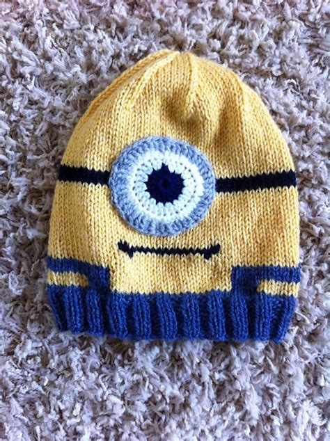 free knitted minion hat pattern knitting patterns galore minion in overalls hat