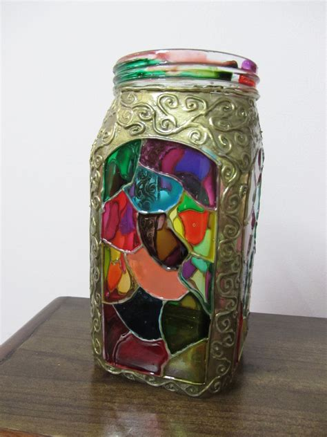 Painting Jars by Glass Painted Jar The Artful Butterfly