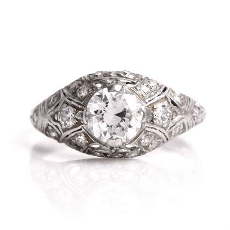 antique platinum filigree engagement ring at 1stdibs