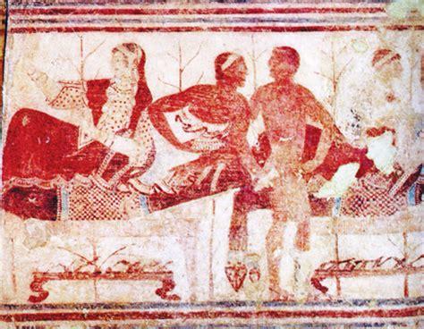 banchetto etrusco etruschi il banchetto e il cibo come momento conviviale