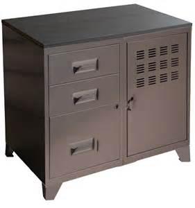 meuble bureau m 233 tal 1 porte 3 tiroirs