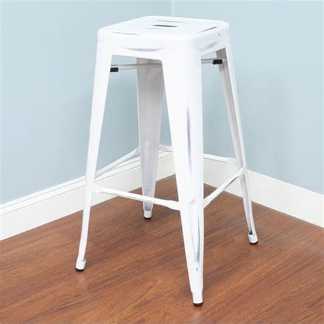 best deals on bar stools white backless barstool 24 inch overstock com shopping