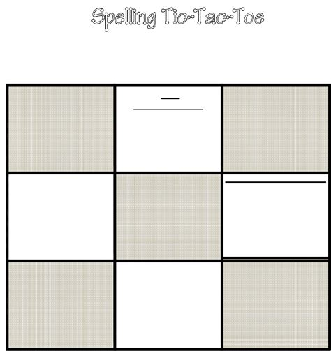 tic tac toe template tic tac toe template in word and pdf formats
