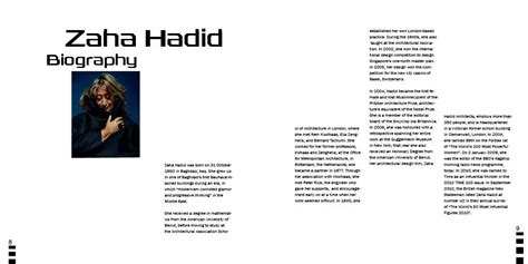 zaha hadid philosophy zaha hadid brochure on behance