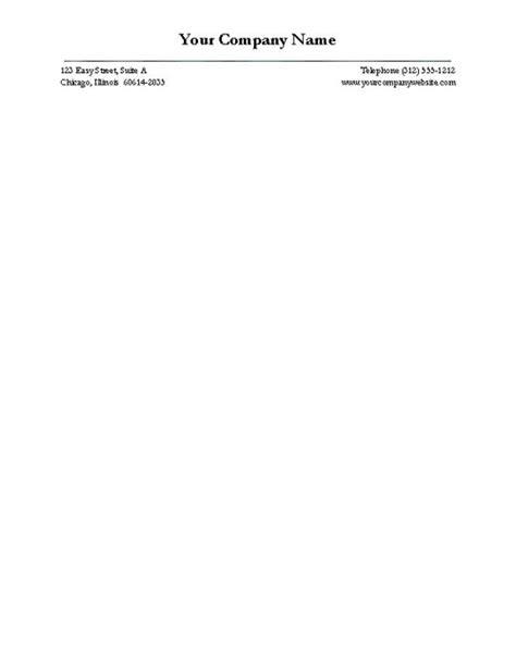 Small Business Letterhead Template Free Business Letterhead Templates For Word