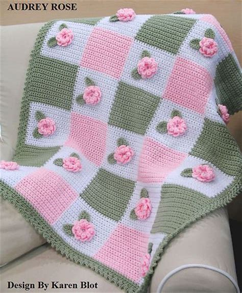Handuk Baby 70 X 143 details about baby crochet afghan pattern 3 d crochet afghans flower