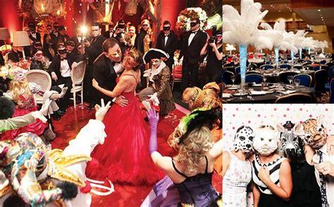 dramatic masquerade themed wedding ideas