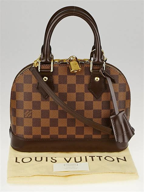 louis vuitton damier canvas alma bb bag yoogis closet