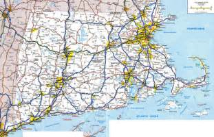 Massachusetts Road Map by Large Detailed Roads And Highways Map Of Massachusetts