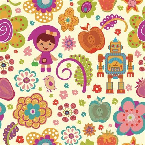 cute cartoon pattern pattern vector cute cartoon flowers free vector in
