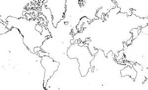 Continents And Oceans Blank Map by Blank Map Continents And Oceans