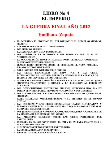 libro why there is no libro no 04 el imperio