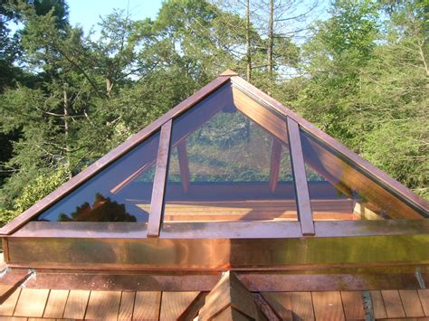 Cabin Houses pyramid copper skylight glass house llc