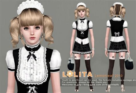 sims 3 outfits my sims 3 blog lolita house maid dress by lemon leaf