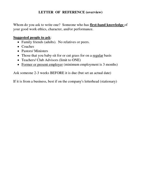 Character Reference Letter Points doc 460595 employment character reference letter i am