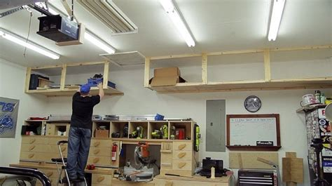 Kitchen Overhead Lighting diy garage storage shelves to maximize space diy projects