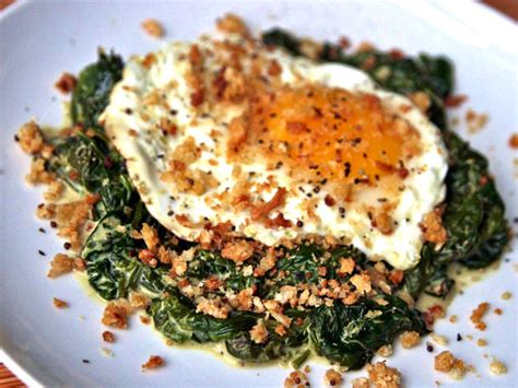 dinner egg recipes dinner tonight fried eggs with mustard creamed spinach