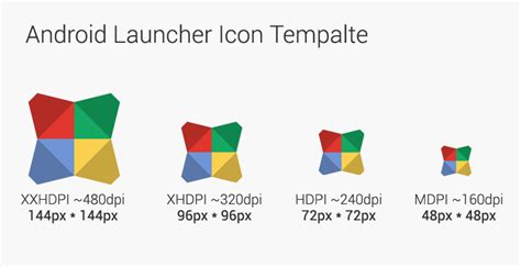 android icon size designer s guide android launcher icon template mready