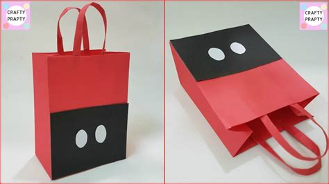 Paper Bags At Home - how to make paper bag diy mickey mouse paper bag diy