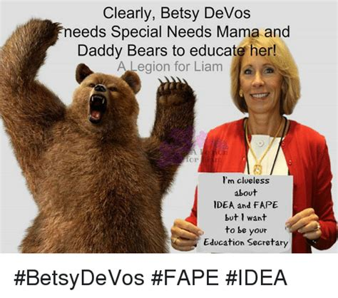 betsy devos and special education clearly betsy devos needs special needs mama and daddy