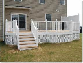 low height deck low height functional deck with privacy