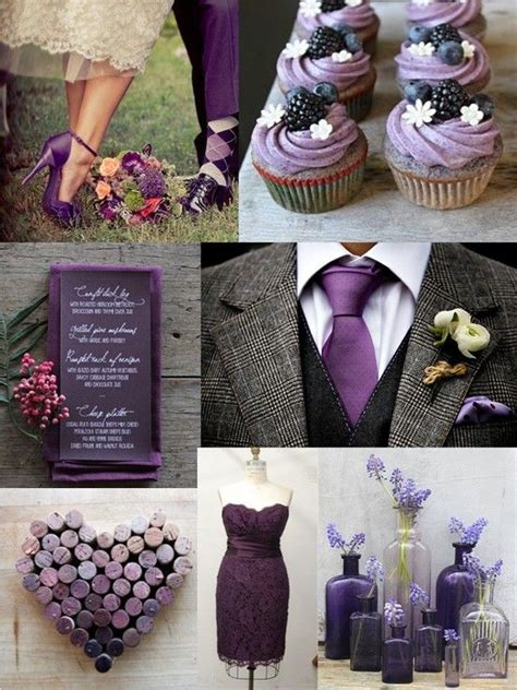 purple gray color purple and grey wedding very classy all thing purple
