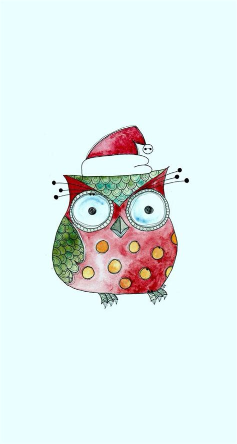 owl christmas wallpaper wallpapersafari