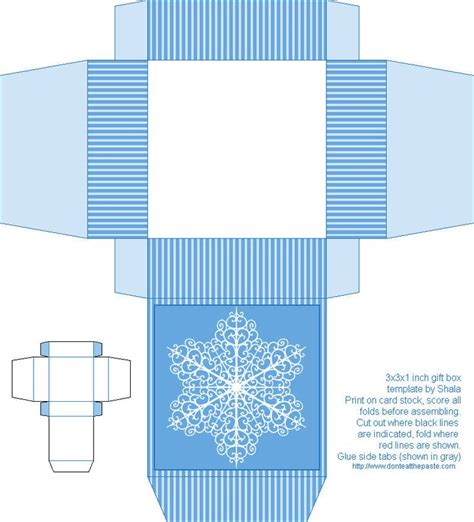 gift card wrapper template snowflake box box free box templates to print