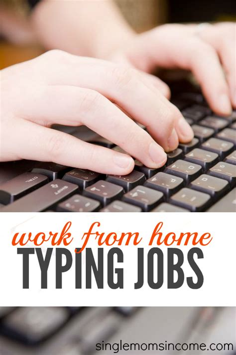 work at home typing single income