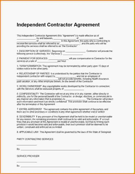Agreement Letter Word Contractor Agreement Template Word Quality Assurance Auditor Sle Resume Gas Operator Sle