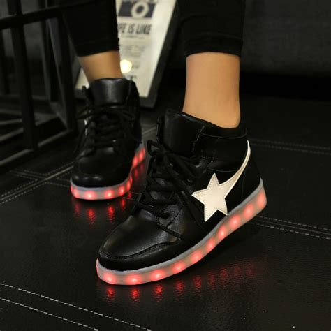 Sepatu Led Shoes Junior basket led sepatu wanita scarpe donna bayan ayakkabi chaussure lumineuse led femme sapatos de