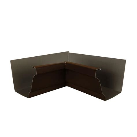 amerimax home products 6 in musket brown a aluminum inside box gutter miter 6inmamb the home