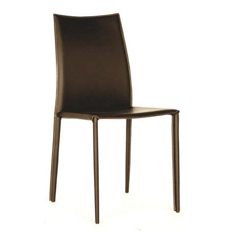 Dining Chair Leather Baxton Studio Rockford Leather Dining Chair