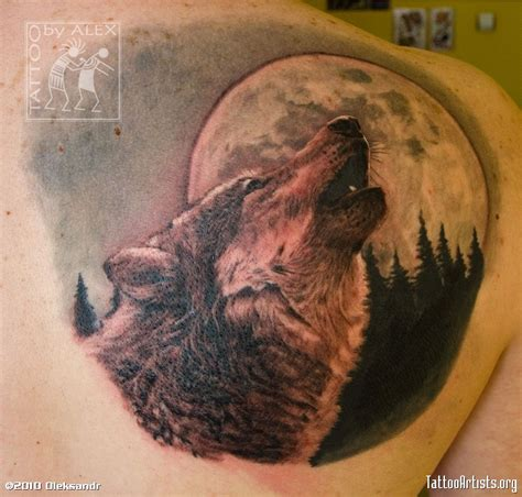 wolf tattoo and moon tattoo collection