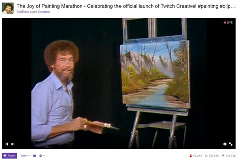 bob ross painting twitch the of painting mit bob ross er 246 ffnet twitch creative