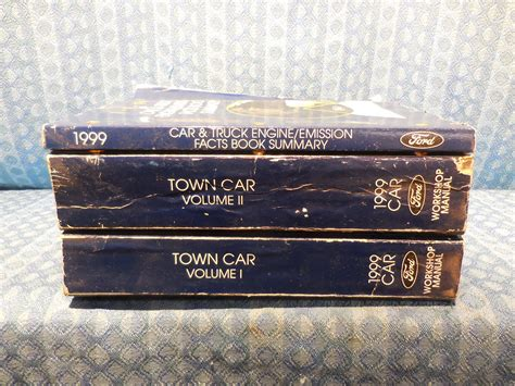 old car owners manuals 1999 lincoln town car electronic valve timing 1999 lincoln town car oem set of 3 original shop service workshop manuals nos texas parts