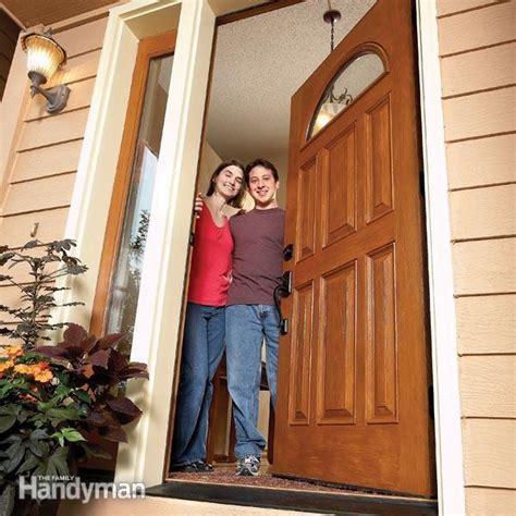 Installing Exterior Door Jamb How To Install A Door Family Handyman