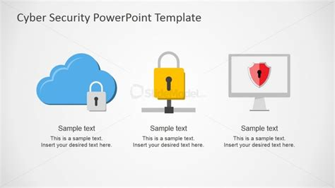 templates powerpoint security cloud lan and wan networks powerpoint shapes slidemodel
