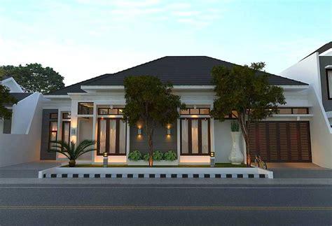 desain depan rumah com model rumah minimalis mewah dengan gaya modern 1 lantai