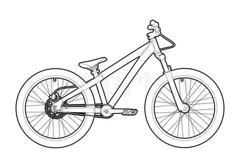Road Bicycle Outline by Black Outline Bicycle On White Background Stock Vector Colourbox