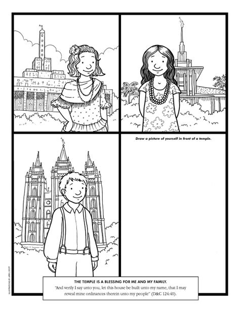 coloring page lds temple marriage coloring pages
