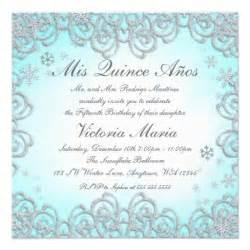 quinceanera invitation templates winter swirl snowflakes quinceanera 5 25x5 25
