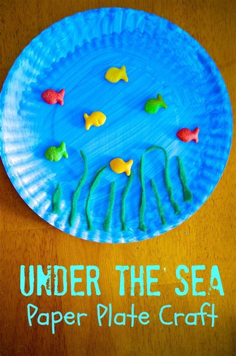 pattern art for preschoolers under the sea paper plate craft paper plate crafts